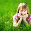 Smiling Little Girl Outdoor — 图库照片