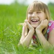 Happy Little Girl In A Park — Stock Photo #10746850