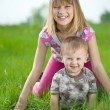 Happy Kids Having Fun Outdoor — Stock Photo #10746855