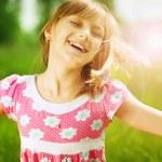 Happy Little Girl Outdoor — Stock Photo #10746861