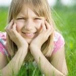 Beautiful Happy Little Girl Outdoor — Stock Photo #10746875
