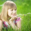 Beautiful Happy Little Girl Outdoor — Stock Photo
