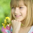 Beautiful Happy Little Girl Outdoor Portrait — Stock Photo #10746880
