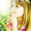 Smiling Little Girl Outdoor — Stock Photo