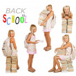 Stock Photo: Back To School Concepts Set