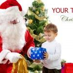 Babbo Natale doni ai bambini — Foto Stock