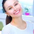 Happy Young Woman Portrait. Smile — Stock Photo #10747133