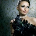 romantische schoonheid portret. mooie luxe meisje — Stockfoto