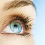 mooie vrouw oog — Stockfoto