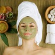 Spa Facial Mud Mask. Dayspa — Stock Photo #10747227