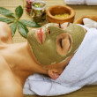 Spa Facial Mud Mask. Dayspa — 图库照片