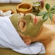 Spa Facial Mud Mask. Dayspa — Stock Photo #10747240