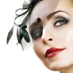 Woman's Face. Vintage Makeup. Retro Style — Stock Photo #10747246
