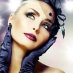 Beautiful Young Woman portrait. Modern makeup — Stock Photo