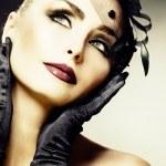mooie jonge vrouw portret. vintage stijl. Retro — Stockfoto