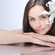 Beautiful Spa Woman portrait. Clear fresh skin — Stock Photo #10747350