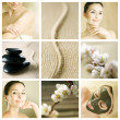 Beautiful Spa Collage — 图库照片