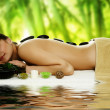Spa. Stone therapy - Stock Photo