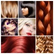 Foto Stock: Hair Collage. Hairstyles