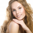 Beautiful Girl With Curly Hair — Stock Photo