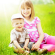 Happy Kids Outdoor — Stock Photo
