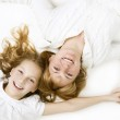 Happy family. Mother with her teenage daughter — Stock Photo