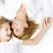Happy family. Mother with her teenage daughter — Stock Photo #10748151