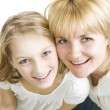 Mother With Her Teenage Daughter Over White — Stock Photo
