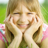 Happy Little Girl Portrait — Stockfoto