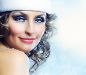 Christmas Girl.Winter woman portrait — Stock Photo
