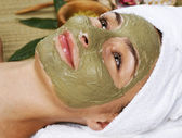 Spa Facial Mud Mask. Dayspa — Stock Photo
