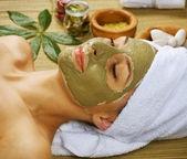 Spa Facial Mud Mask. Dayspa — Stock Photo