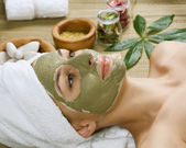 Spa ansiktsbehandling mud mask. dayspa — Stockfoto