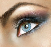 Beautiful Woman's Eye. Makeup — Stock Photo