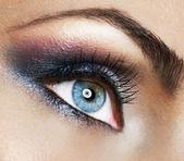 Beautiful Woman's Eye. Makeup — Stock Photo