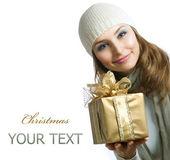 Noel hediye kutusu ile güzellik — Stok fotoğraf