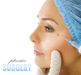Botox Injection. Plastic Surgery — Stock Photo