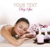 Lázně žena. denní wellness salonu — Stock fotografie
