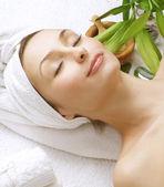 Beautiful Spa Woman. Clean Skin — Stock Photo