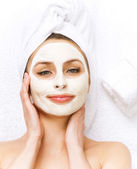 Spa Facial clay Mask. Dayspa — Stock Photo