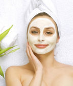 Spa Facial Mask. Dayspa concept — Stock Photo