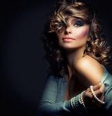Portrait de la belle femme. modèle de .beauty de fille sexy — Photo