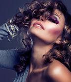 Portret kobiety sztuka girl.fashion uroda — Zdjęcie stockowe