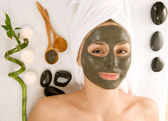 Spa Facial Mask — Stock Photo