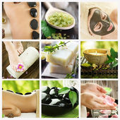 Beautiful Spa Collage — Stock Photo
