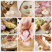 Prachtige spa collage — Stockfoto