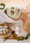 Spa maseczka na twarz — Zdjęcie stockowe