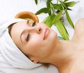 Tratamentos de spa woman.beauty — Foto Stock