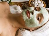Spa Facial Mask. Dayspa — Stock Photo