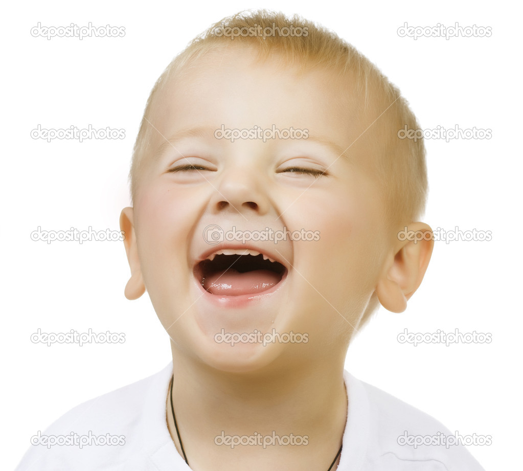Happy Cute Baby Boy over white — Stock Photo #10746686